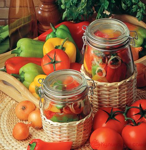 Перец в растительном масле по-болгарски