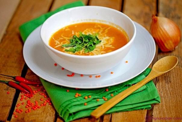Вкусный острый суп из чечевицы рецепт