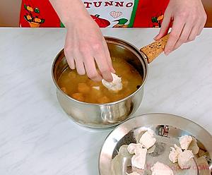 Рыбный суп с плавленым сыром