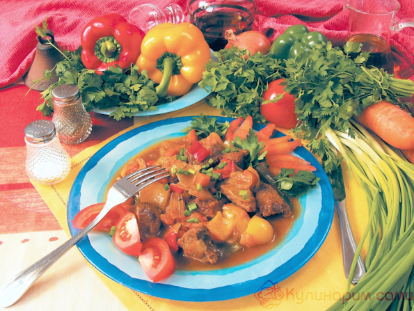 Овощное рагу с говядиной рецепт с фото