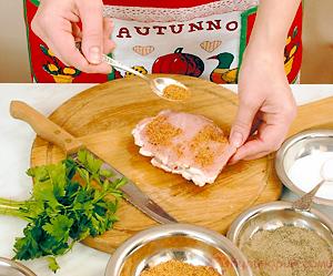 Свинина, фаршированная сыром и зеленью
