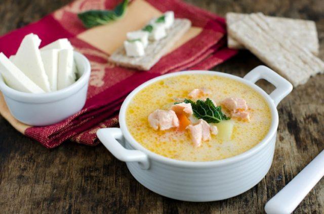 рыбный суп с плавленным сыром рецепт с фото пошагово