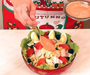 Итальянский салат с макаронами и курицей