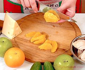 Салат с курицей и апельсинами пошаговый рецепт с фото