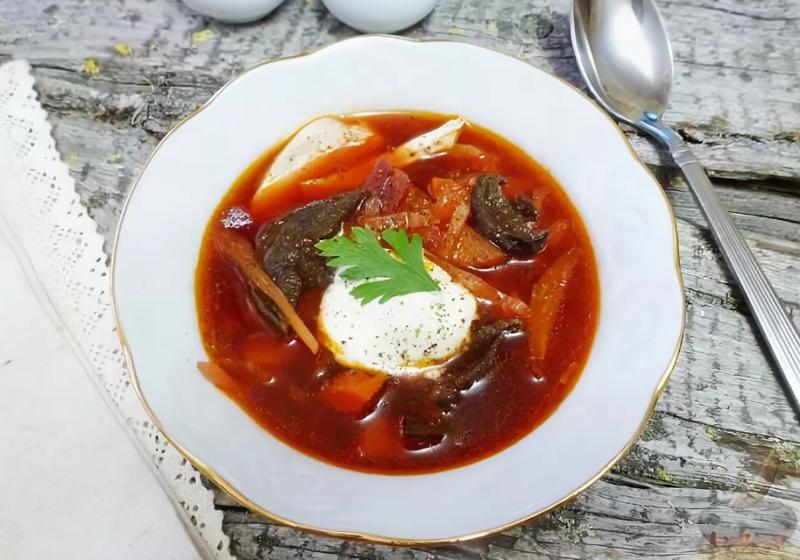 борщ с сушеными грибами рецепт