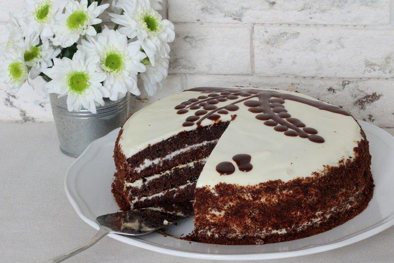 Черемуховый торт со сметаной — пошаговый рецепт с фото
