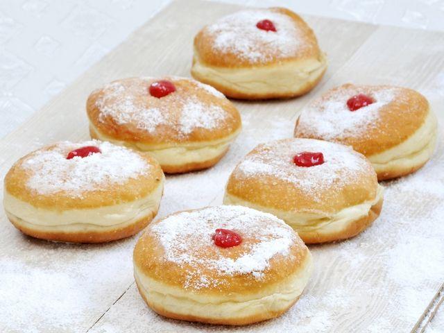 Заварные пончики с медом