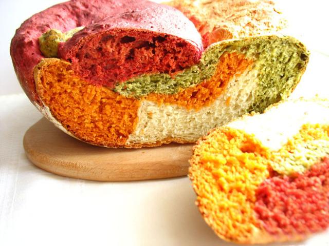 Разноцветный хлеб рецепт