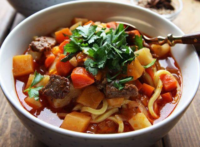 лагман рецепт из говядины с лапшой фото