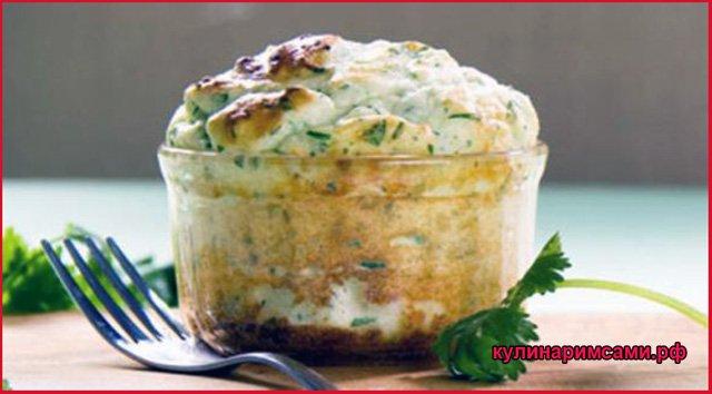 Картофельное суфле с зеленью