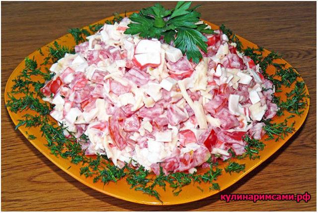 Салат «Красное море» - рецепт приготовления