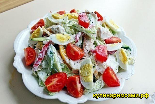 Диетический куриный салат