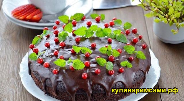 шоколадный пирог с вишневым муссом