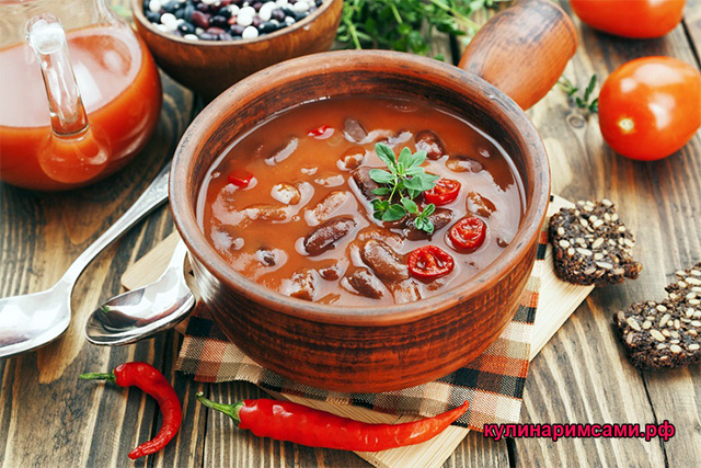 Мексиканский суп Чили