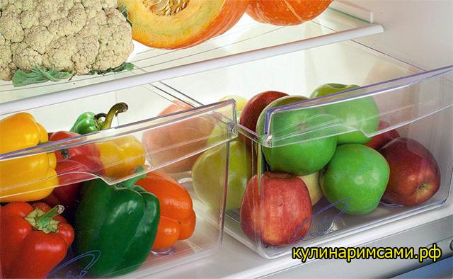 Рекомендации по хранению плодов в холодильнике