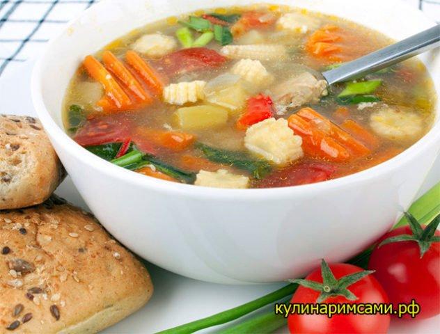 Готовим суп, от которого не поправишься!