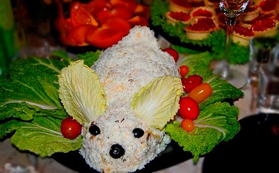 Салат «Пасхальный кролик»