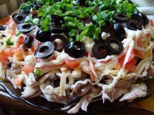 6 салатов с куриным филе