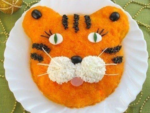 Детский салат Тигрёнок