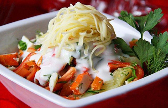 Зимний салат «Под снегом»