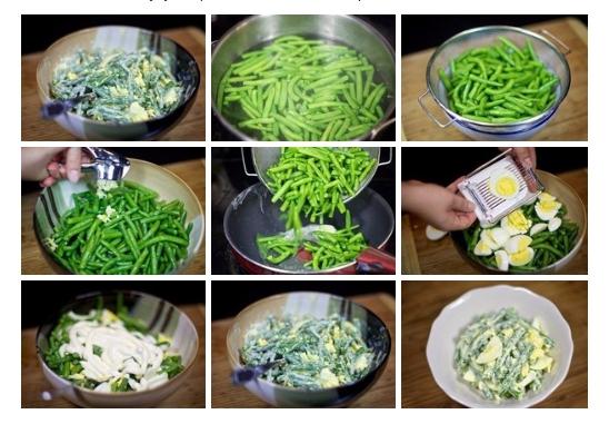 Салат из зеленой фасоли с яйцами
