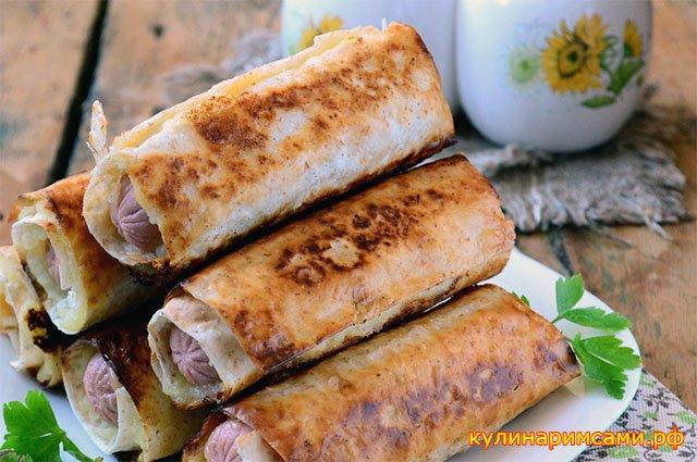 Сосиски в картофельно-сырной «шубке»