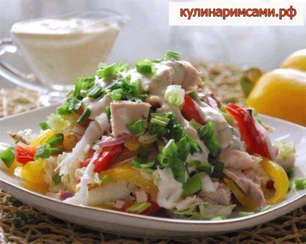 «Курочка-Снегурочка » - лёгкий салат для ланча
